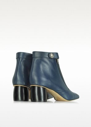 Marc Jacobs Midnight Blue Double-Zip Leather Ankle Boot