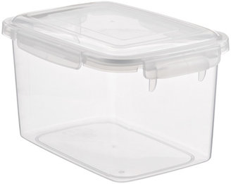 Container Store 8.45 qt. Smart Locks Keep Box Crystal Clear