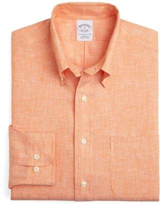 Brooks Brothers Irish Linen Slim Fit Solid Sport Shirt