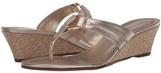 Lilly Pulitzer Mckim Wedge (Gold Metallic) Women's Sandals