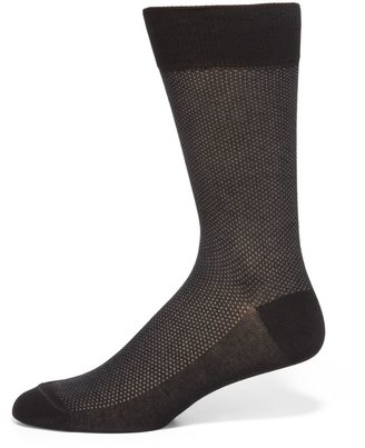 Saks Fifth Avenue Made In Italy Birdseye Cotton Dress Socks