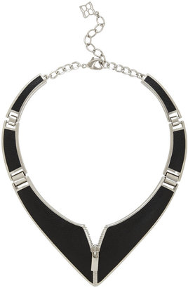 BCBGMAXAZRIA Inlay Zipper Necklace