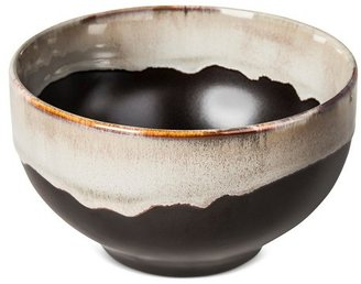 Threshold Stoneware Cereal Bowl 14.9oz Black with Metallic Glaze