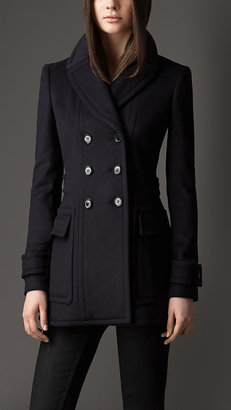 Burberry Wool Cashmere Military Pea Coat