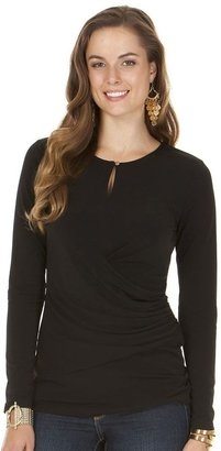 Daisy fuentes ® solid ruched top