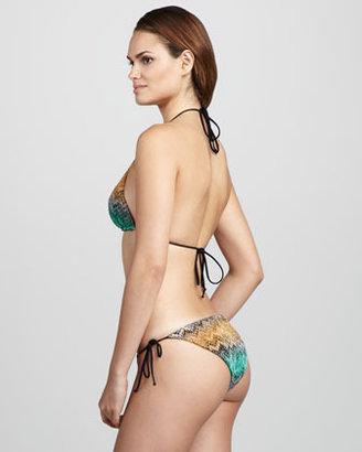 Missoni Snake-Print Zigzag String Bikini, Multicolor