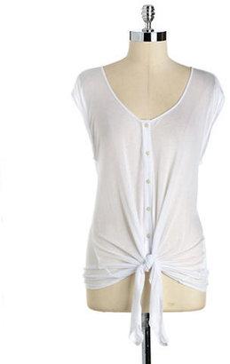 Calvin Klein Jeans Mesh Tie-Front Shirt