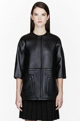 Marni Black Lamb Leather Structured Jacket