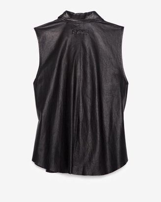 Rag and Bone Sleeveless Leather Shirt