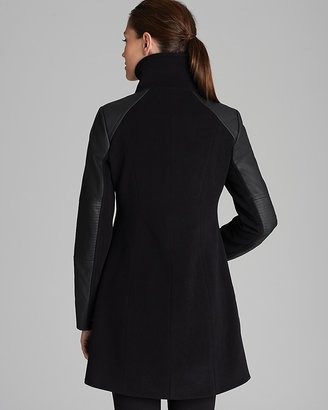 Marc New York Coat - Textured with Faux Leather