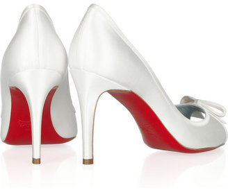 Christian Louboutin Milady 85 satin-covered leather pumps