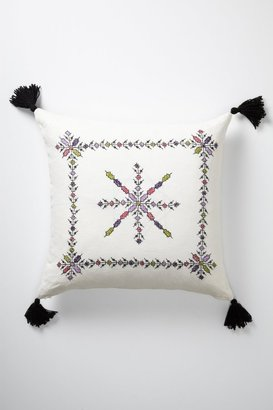 Anthropologie Embroidered Fesi Pillow