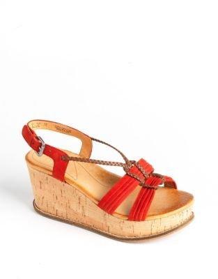 Naya Nalisha Leather Platform Wedge Sandals