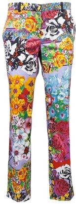Versace Printed rose trouser