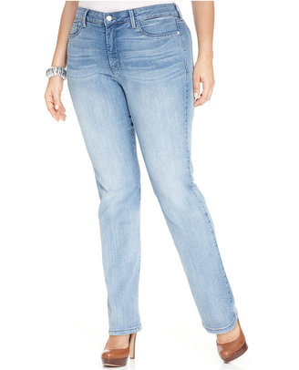 NYDJ Plus Size Marilyn Straight-Leg Jeans, Manhattan Beach Wash