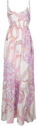 Emilio Pucci empire line maxi dress