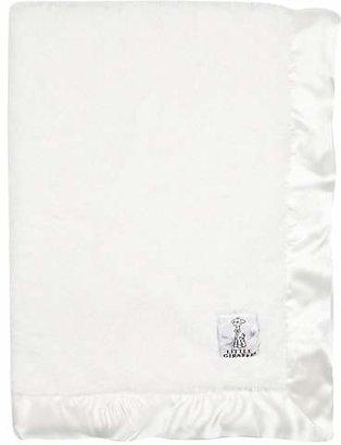 Little Giraffe Chenille Baby Blanket - White