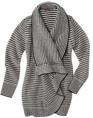 Merona Women's Plus-Size Long-Sleeve Cardigan Sweater - Black/White