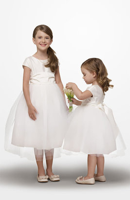 Us Angels Silk & Tulle Dress (Toddler & Big Girls)