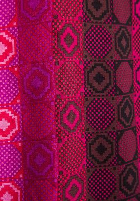 Anna Sui Geometric Tonal Print Mesh Crepe Dress