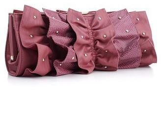 Rampage Handbag, Rome Ruffle Shoulder Clutch