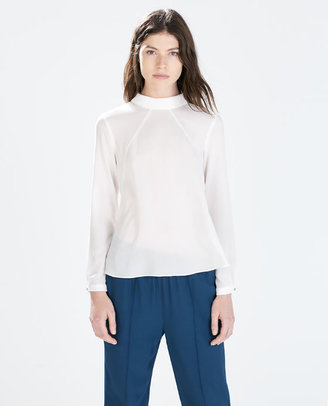 High-Neck Blouse
