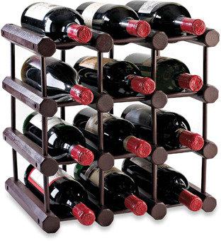 Bed Bath & Beyond Modular 12-Bottle Wood Wine Rack