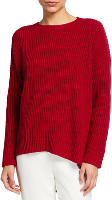 Eileen Fisher Recycled Cashmere High-Low Sweater
