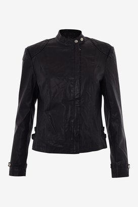 French Connection Galaxy Collarless Biker Jacket
