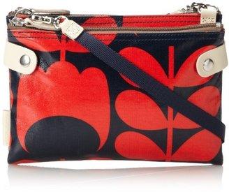 Orla Kiely Laminated Travel Pouch Cross Body Bag