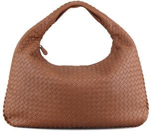 Bottega Veneta Woven Leather Hobo, Hazelnut Brown