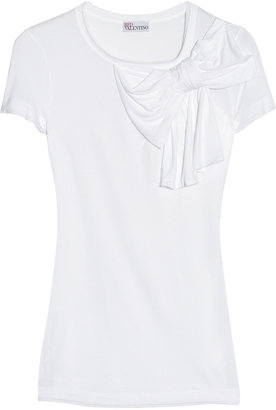 RED Valentino Bow-embellished modal-jersey T-shirt