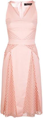 Marios Schwab Halterline Dress W Lace Panel Insets