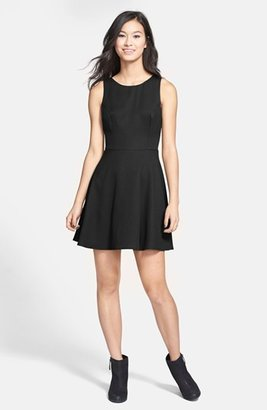 Lush V-Back Skater Dress (Juniors)