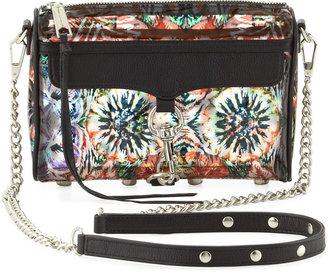 Rebecca Minkoff Mini MAC Flower-Print PVC Crossbody Bag, Multi