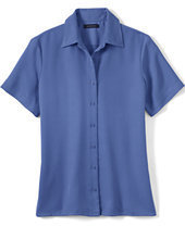 Lands' End Women's Regular Short Sleeve Camp Shirt-Blackberry Knots $35 thestylecure.com