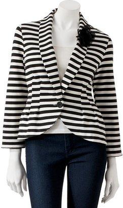 Candie's striped peplum blazer