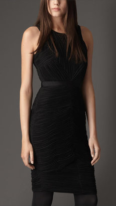 Burberry Ruched Georgette Dress