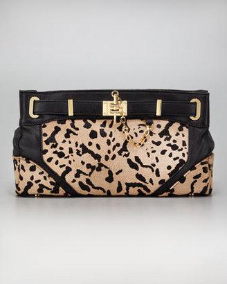 Rachel Zoe Zoe Calf-Hair Clutch Bag