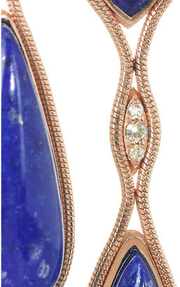 Lapis Fernando Jorge 18-karat rose gold, lazuli and diamond earrings
