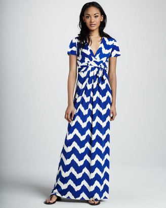 T-Bags T Bags Chevron-Print Maxi Dress