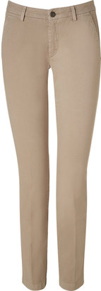 7 For All Mankind Seven Beige Roxanne Cotton Drill Chinos