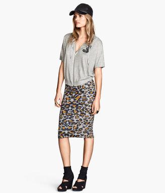 H&M Pencil Skirt - Gray melange - Ladies