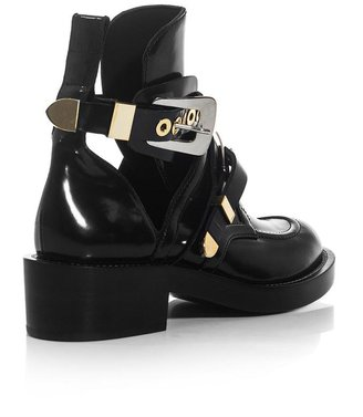 Balenciaga The Ceinture cut-out ankle boots
