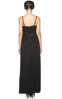 Alice + Olivia Ciel Studded Leather Quilted Corset Dress