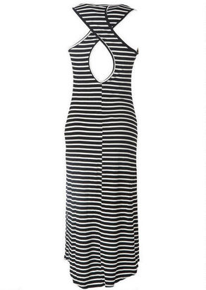 Delia's Striped High-Low Midi Maxi
