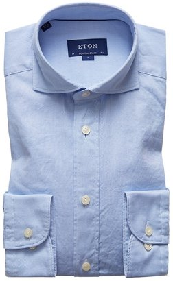Eton Soft Light Blue Royal Oxford Shirt - Contemporary Fit