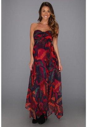 Roxy Sea Siren Tube Maxi Dress (Wild Aster Ethnic Geo Print) Women's Dress