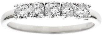 Affinity Diamond Jewelry Affinity 1/2 cttw 5-Stone Diamond Band Ring, 14K White Gold