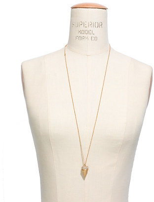 Madewell Pavé Cone Locket Necklace